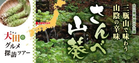 三瓶山で味わう山陰の辛味 さんべ山葵(わさび)