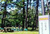 ASOBOースラックラインとハンモック(北の原キャンプ場)